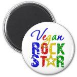 Vegan Rock Star 2 Refrigerator Magnets