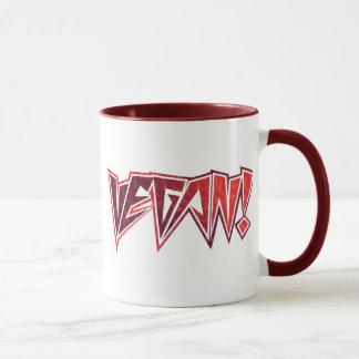 Vegan Rocker Brown and Red Mug