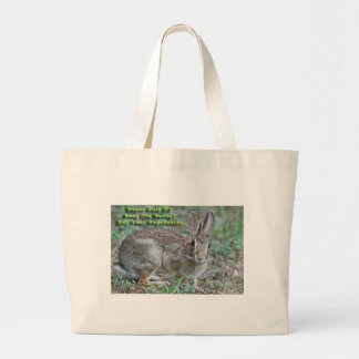 Vegan Rule #2 Obey the Bunny! Gifts & Apparel Tote Bags