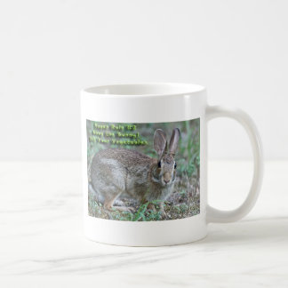 Vegan Rule #2 Obey the Bunny! Gifts & Apparel Coffee Mugs