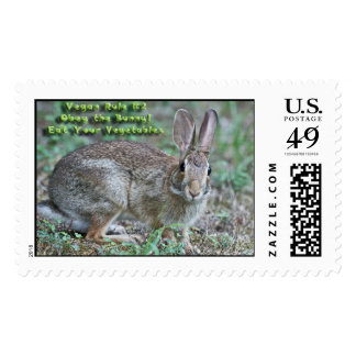 Vegan Rule 2 Obey the Bunny Stamps