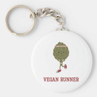 Vegan Runner Artichoke Keychain
