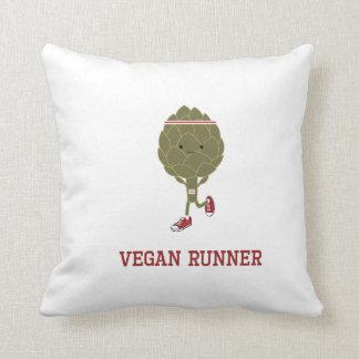 Vegan Runner Artichoke Throw Pillow