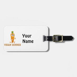 Vegan Runner Carrot Bag Tag