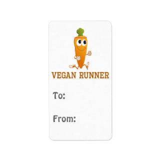 Vegan Runner Carrot Label