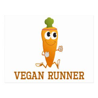 Vegan Runner Carrot Postcard