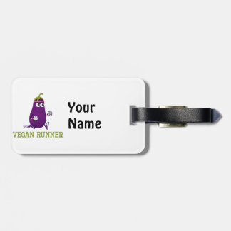 Vegan Runner Eggplant Luggage Tag