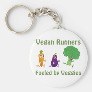 Vegan Runners - fueled by Veggies Basic Round Button Keychain