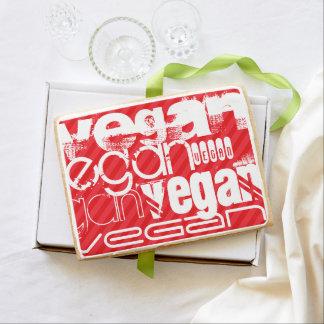 Vegan; Scarlet Red Stripes Jumbo Cookie