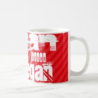 Vegan; Scarlet Red Stripes Classic White Coffee Mug