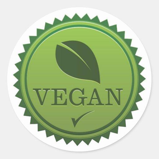 Vegan Seal Round Stickers