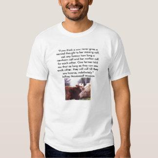 vegan shirt cow and calf - Customized
