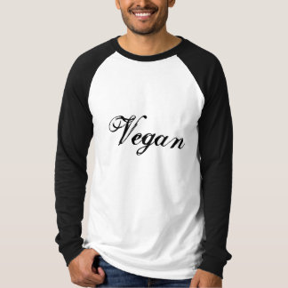 Vegan Slogan. Black and White. Custom T-Shirt