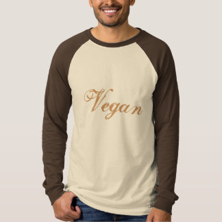 Vegan Slogan. Brown. Custom T-Shirt
