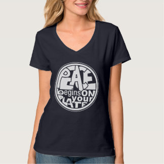 Vegan Slogan Peace Begins On Your Plate T-Shirt