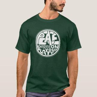 Vegan Slogan Peace Begins On Your Plate T-Shirt