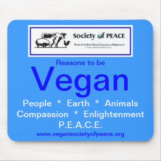 Vegan Society of PEACE mousepad