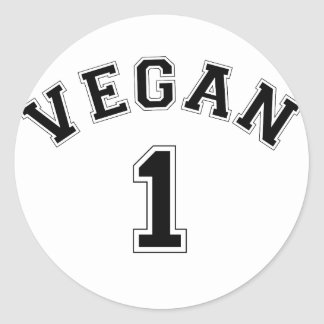 Vegan Sports Logo Classic Round Sticker
