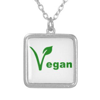 Vegan Square Pendant Necklace