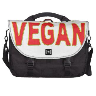 Vegan Star Tag Laptop Computer Bag