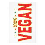 Vegan Star Tag Stationery Design