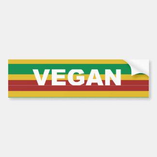 Vegan Stripes Rasta Bumper Sticker