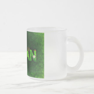 Vegan Style Frosted Glass Coffee Mug