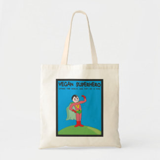 vegan superhero tote bag