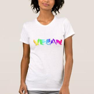 VEGAN SYMBOL RAINBOW ON WOMEN'S WHT LONG T-Shirt