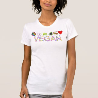 Vegan * Symbols of Love, Peace and Compassion T Tee Shirt