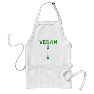 Vegan Text Art Happy quote - forks Adult Apron