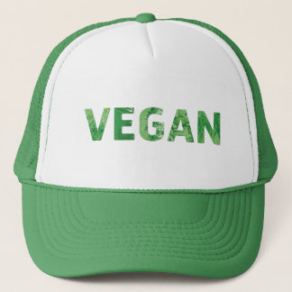 Vegan Text Art - Happy Quote Trucker Hat