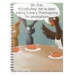 Vegan Thanksgiving Funny Spiral Notebooks
