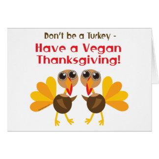 Vegan Thanksgiving Greeting Card