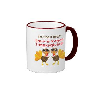 Vegan Thanksgiving Ringer Coffee Mug