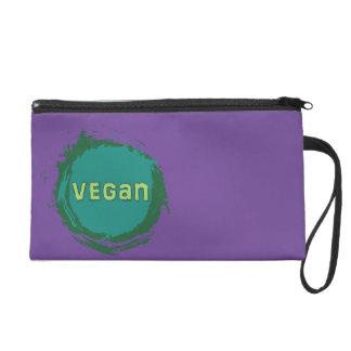 Vegan Theme Wristlet Purse