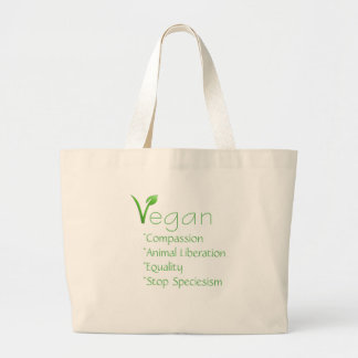 Vegan Tote Shopping Bag Reusable Veganism
