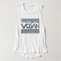 Vegan/Tribal print Flowy Muscle Tank Top