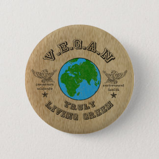 VEGAN -truly living green. Button