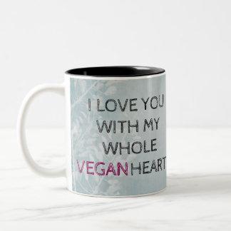VEGAN VALENTINE'S DAY Grey Mug