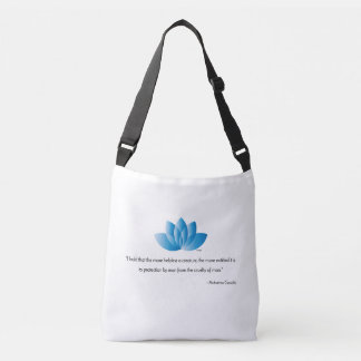 Vegan, Veganism, Mahatma Gandhi Quote Crossbody Bag