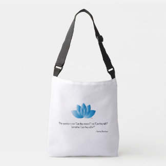 Vegan, Veganism, Save an Animal Quote Crossbody Bag