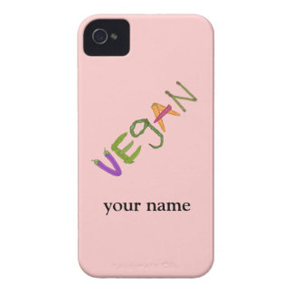 Vegan Vegetable Lovers Blackberry Personalized Case-Mate iPhone 4 Case