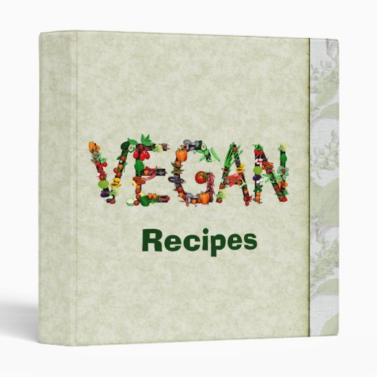 Vegan Vegetables 3 Ring Binder
