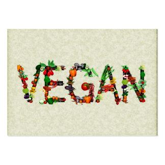 Vegan Vegetables Large Business Cards (Pack Of 100)