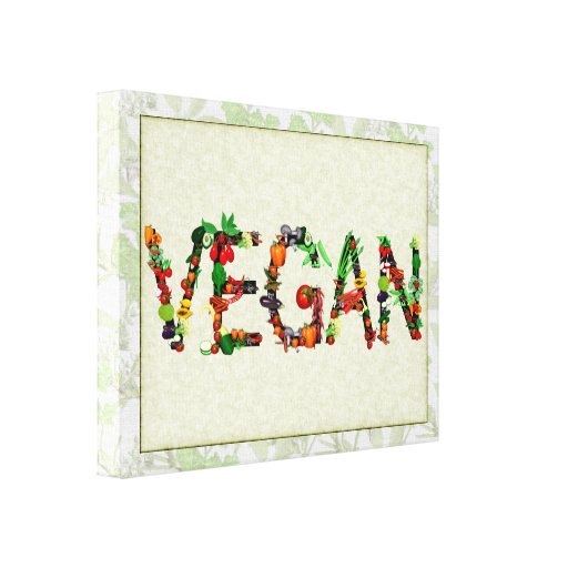 Vegan Vegetables Gallery Wrap Canvas
