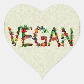 Vegan Vegetables Heart Sticker