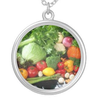 Vegan Vegetables Jewelry Pendant Necklace Green