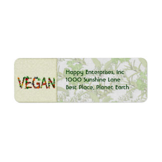 Vegan Vegetables Label