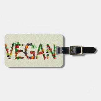Vegan Vegetables Luggage Tag